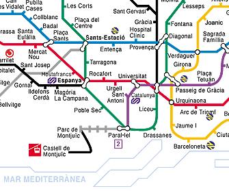 Carte Metro 1 Jour Barcelone.Transports Metro A Barcelone Barcelonesite Fr